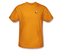Image Closeup for Star Trek the Next Generation Uniform T-Shirt - Engineering