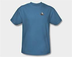 Image Closeup for Star Trek the Next Generation Uniform T-Shirt - Science