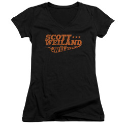 Image for Scott Weiland Girls V Neck T-Shirt - Logo
