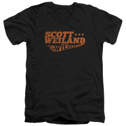 Image for Scott Weiland V-Neck T-Shirt - Logo