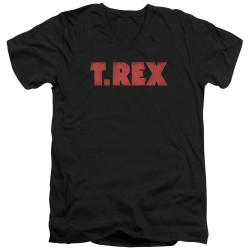 Image for T Rex V-Neck T-Shirt - Logo