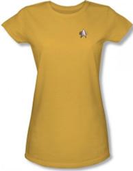 Image for Star Trek Deep Space Nine Uniform Girls T-Shirt - Engineering