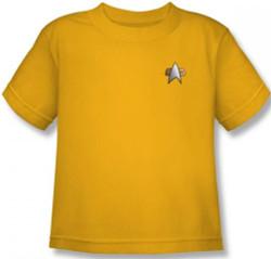 Image for Star Trek Deep Space Nine Uniform Kids T-Shirt - Engineering