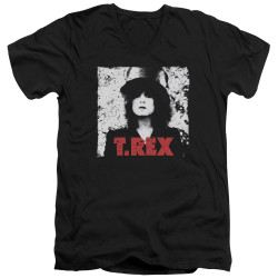 Image for T Rex V-Neck T-Shirt - the Slider