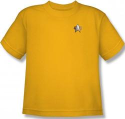Image for Star Trek Deep Space Nine Uniform Youth T-Shirt - Engineering