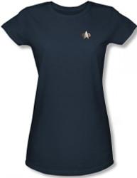 Image for Star Trek Deep Space Nine Uniform Girls T-Shirt - Science