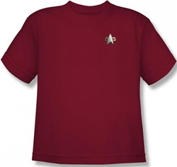 Image for Star Trek Deep Space Nine Uniform Youth T-Shirt - Command