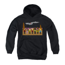 Image for Star Trek the Next Generation Youth Hoodie - 8 Bit Crew