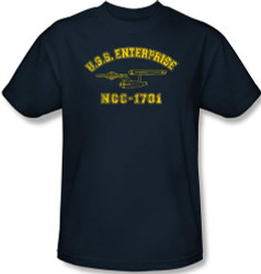 Image Closeup for Star Trek T-Shirt - Enterprise Athletic