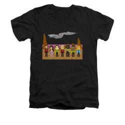 Image for Star Trek the Next Generation V Neck T-Shirt - 8 Bit Crew