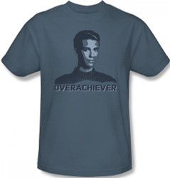 Image Closeup for Star Trek the Next Generation T-Shirt - Overachiever