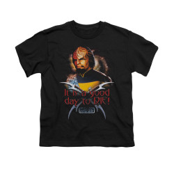 Image for Star Trek the Next Generation Youth T-Shirt - A Good Day to Die