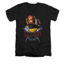 Image for Star Trek the Next Generation V Neck T-Shirt - A Good Day to Die
