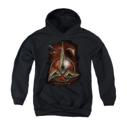 Image for Star Trek the Next Generation Youth Hoodie - Klingon Crest