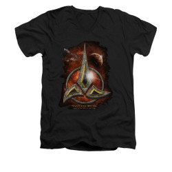 Image for Star Trek the Next Generation V Neck T-Shirt - Klingon Crest