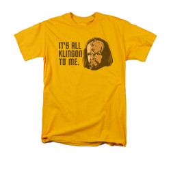 Image for Star Trek the Next Generation T-Shirt - It's All Klingon to Me