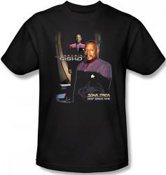 Image Closeup for Star Trek Deep Space Nine T-Shirt - Captain Sisko