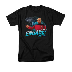 Image for Star Trek the Next Generation T-Shirt - Engage