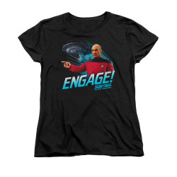 Image for Star Trek the Next Generation Womans T-Shirt - Engage