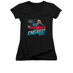Image for Star Trek the Next Generation Girls V Neck - Engage
