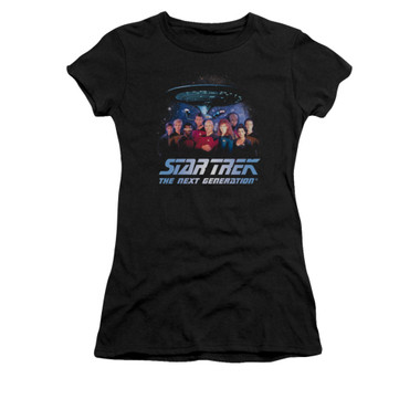 Image for Star Trek the Next Generation Girls T-Shirt - Space Group