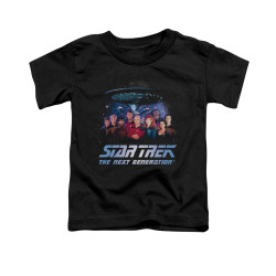 Image for Star Trek the Next Generation Toddler T-Shirt - Space Group