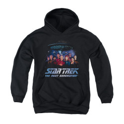 Image for Star Trek the Next Generation Youth Hoodie - Space Group