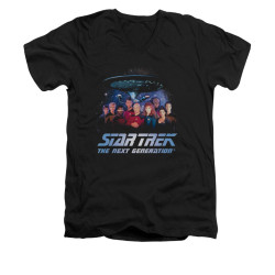 Image for Star Trek the Next Generation V Neck T-Shirt - Space Group