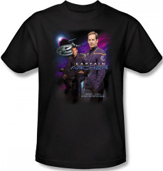 Image Closeup for Star Trek Enterprise T-Shirt - Captain Archer
