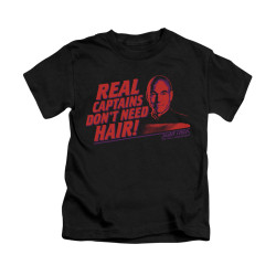 Image for Star Trek the Next Generation Kids T-Shirt - Real Captains Don't Need Hair