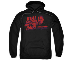 Image for Star Trek the Next Generation Hoodie - Real Captains Don't Need Hair