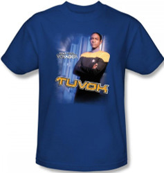 Image Closeup for Star Trek Voyager T-Shirt - Tuvok