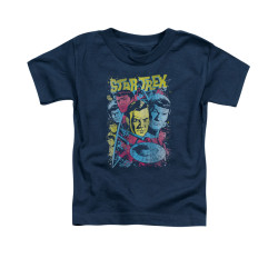 Image for Star Trek Toddler T-Shirt - Classic Crew Illustrated