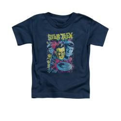 Image for Star Trek Toddler T-Shirt - Classic Crew Illustrated