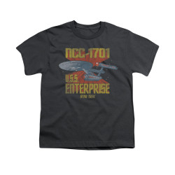 Image for Star Trek Youth T-Shirt - NCC1701 Animated