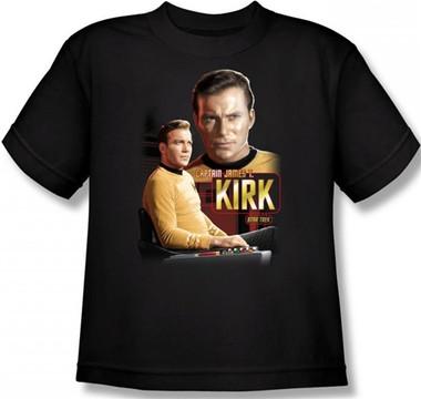Image for Star Trek Youth T-Shirt - Captain Kirk