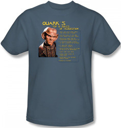 Image Closeup for Star Trek Deep Space Nine T-Shirt - Quark's Rules