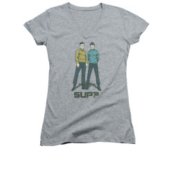 Image for Star Trek Girls V Neck - Sup?