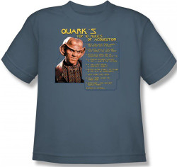 Image for Star Trek Deep Space Nine Youth T-Shirt - Quark's Rules