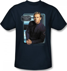 Image Closeup for Star Trek Enterprise T-Shirt - Trip Tucker