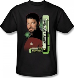 Image Closeup for Star Trek T-Shirt - Commander William T. Riker