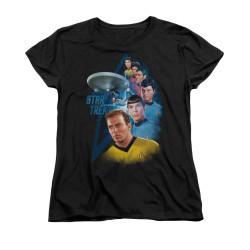 Image for Star Trek Womans T-Shirt - Among the Stars