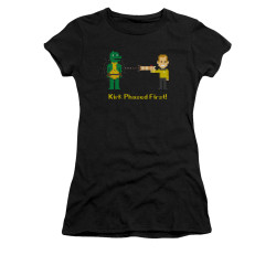 Image for Star Trek Juniors T-Shirt - 8 Bit Kirk Phased First