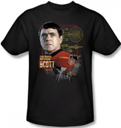 Image Closeup for Star Trek T-Shirt - Chief Engineer Scott