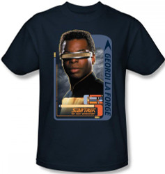 Image Closeup for Star Trek the Next Generation T-Shirt - Geordi LaForge