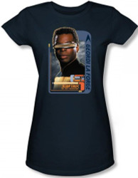 Image for Star Trek the Next Generation Girls T-Shirt - Geordi LaForge