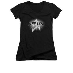 Image for Star Trek Girls V Neck - Glow Logo