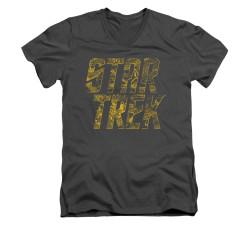 Image for Star Trek V Neck T-Shirt - Schematic Logo