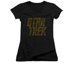 Image for Star Trek Girls V Neck - Distressed Logo