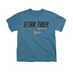 Image for Star Trek Youth T-Shirt - Enterprise Logo